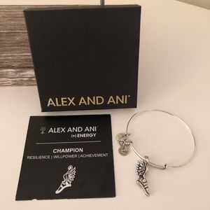 Alex and Ani Champion adjustable wire bangle